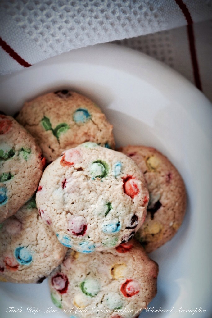 Celebrate Good Times Vanilla Cake Mix Cookies   Faith, Hope, Love, and Luck Survive Despite a Whiskered Accomplice
