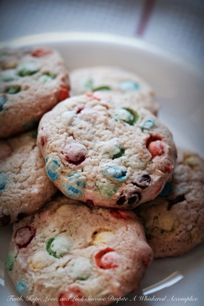 Celebrate Good Times Vanilla Cake Mix Cookies | Faith, Hope, Love, and Luck Survive Despite a Whiskered Accomplice