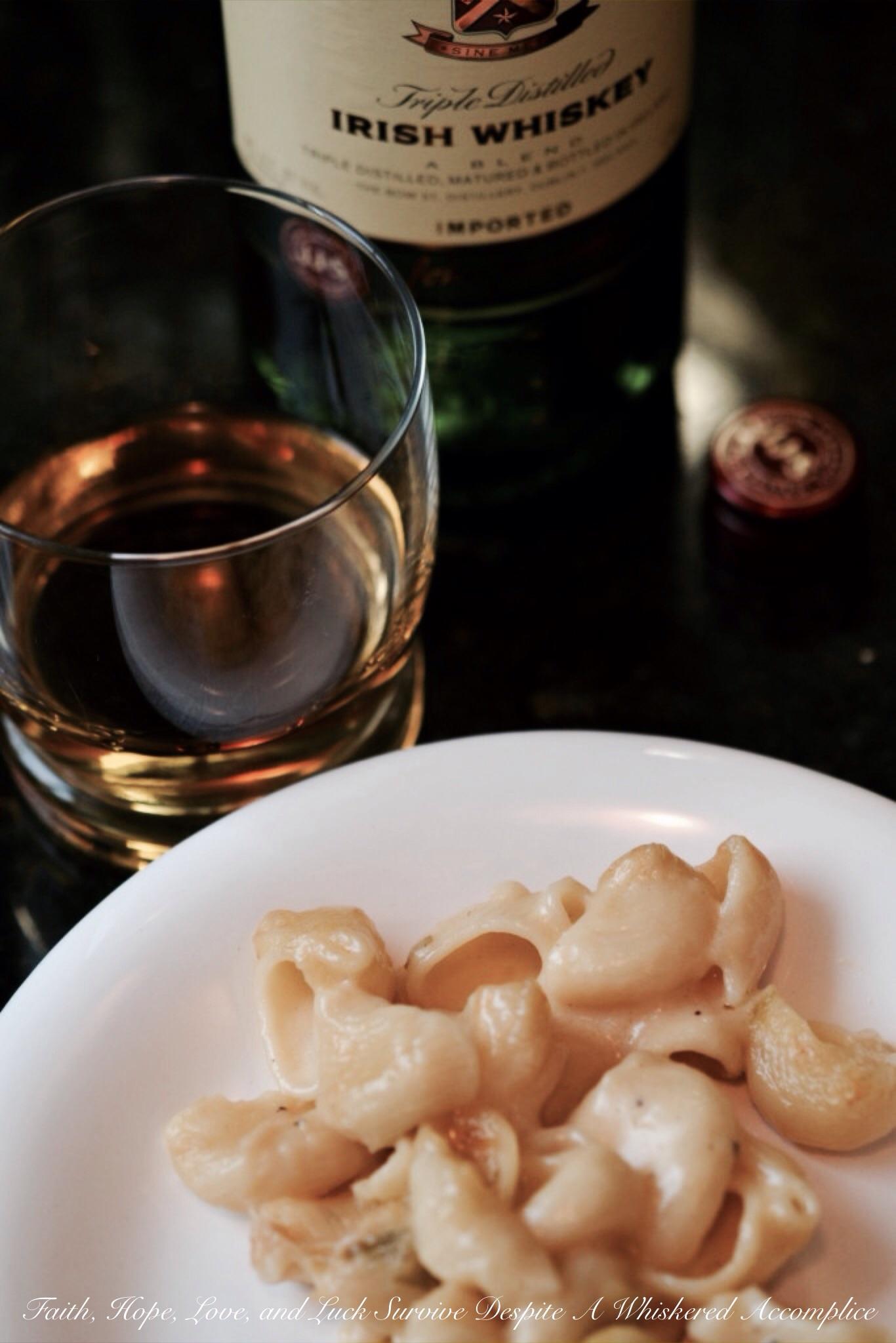 Irish Whiskey Scallion Mac and Cheese