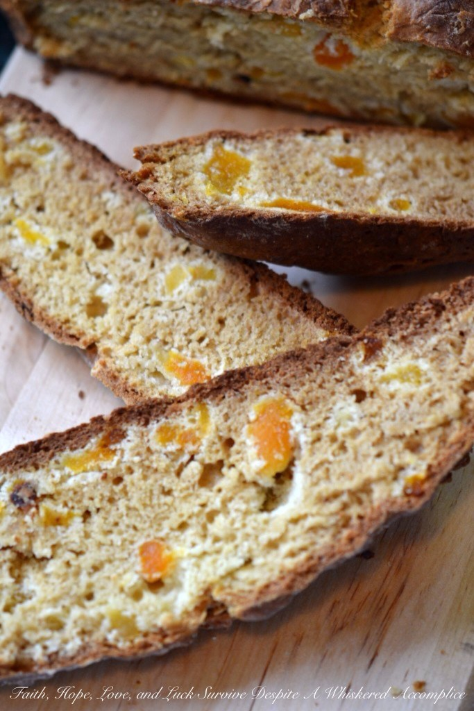 Apricot Irish Soda Bread | Faith, Hope, Love, and Luck Survive Despite a Whiskered Accomplice
