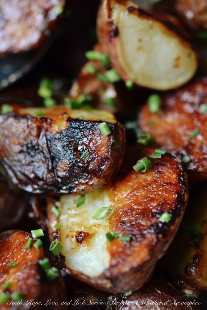 Asian Coconut Water Roasted Potatoes | Faith, Hope, Love, and Luck Survive Despite a Whiskered Accomplice