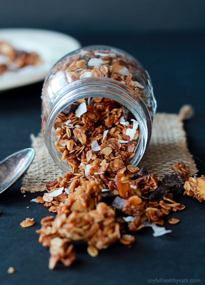 Homemade Almond Joy Granola | Faith, Hope, Love, and Luck Survive Despite a Whiskered Accomplice