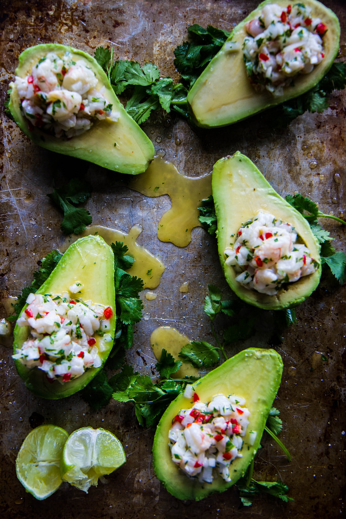 Shrimp Ceviche Stuffed Avocados | Faith, Hope, Love, and Luck Survive Despite a Whiskered Accomplice