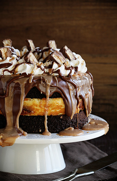 Snickers Cheesecake Cake | Faith, Hope, Love, and Luck Survive Despite a Whiskered Accomplice
