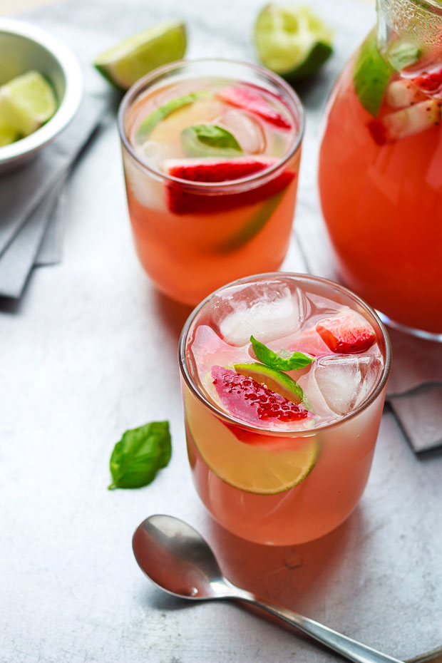 Strawberry Iced Tea Cooler | Faith, Hope, Love, and Luck Survive Despite a Whiskered Accomplice