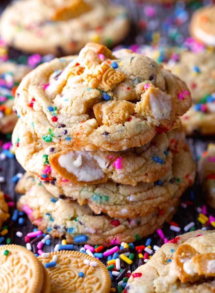 Cake Batter Golden Oreos Rainbow Cookies | Faith, Hope, Love, and Luck Survive Despite a Whiskered Accomplice