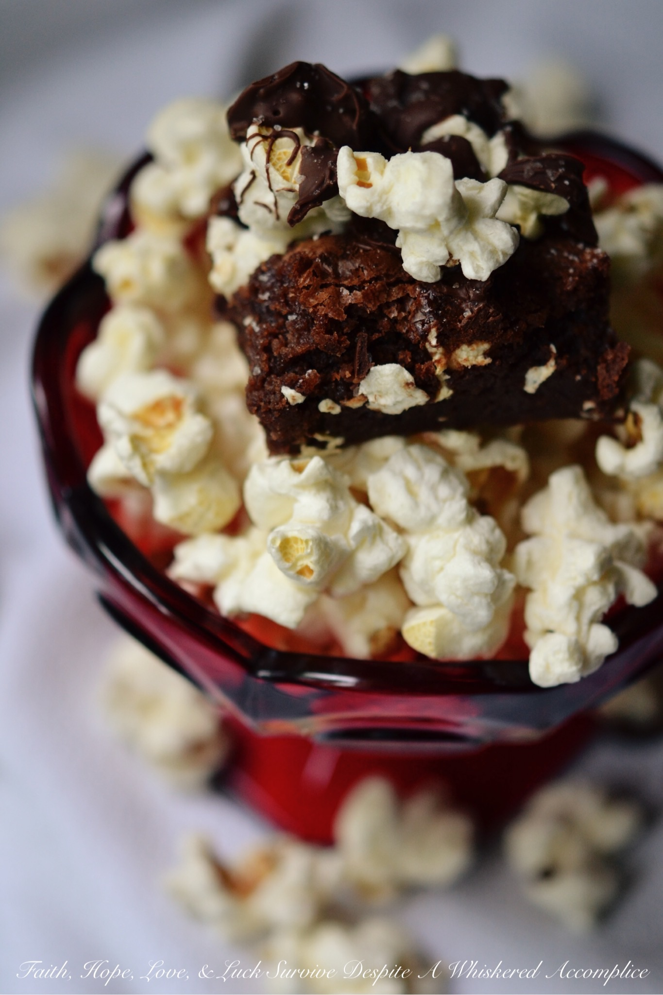 Boom Chicka Popcorn Brownies