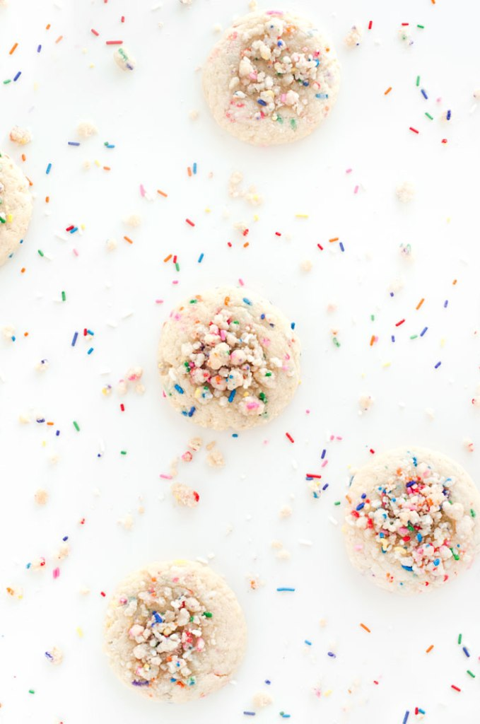 Birthday Cake Crumble Cookies | Faith, Hope, Love, and Luck Survive Despite a Whiskered Accomplice