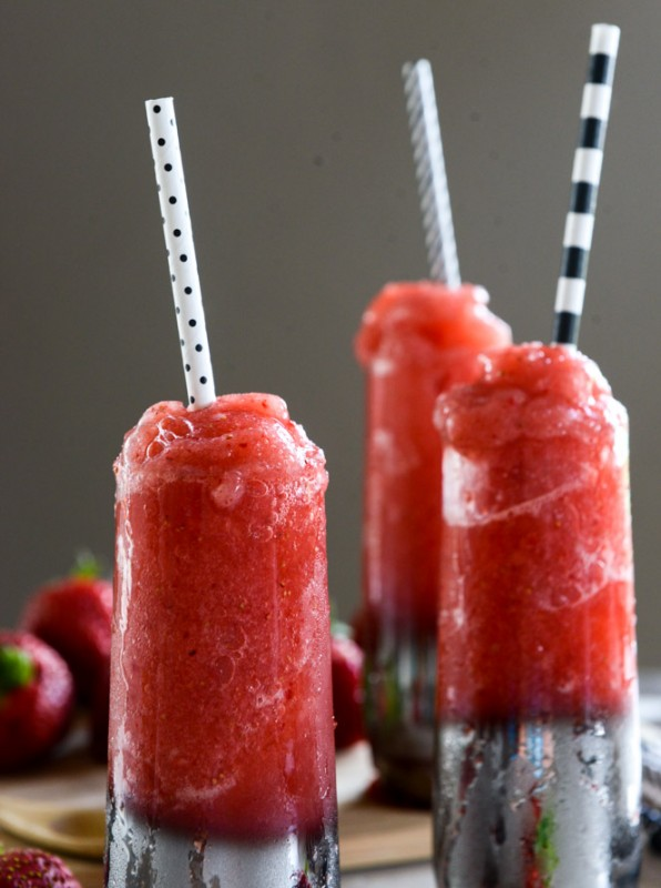 Strawberry Gin Slushies | Faith, Hope, Love, and Luck Survive Despite a Whiskered Accomplice