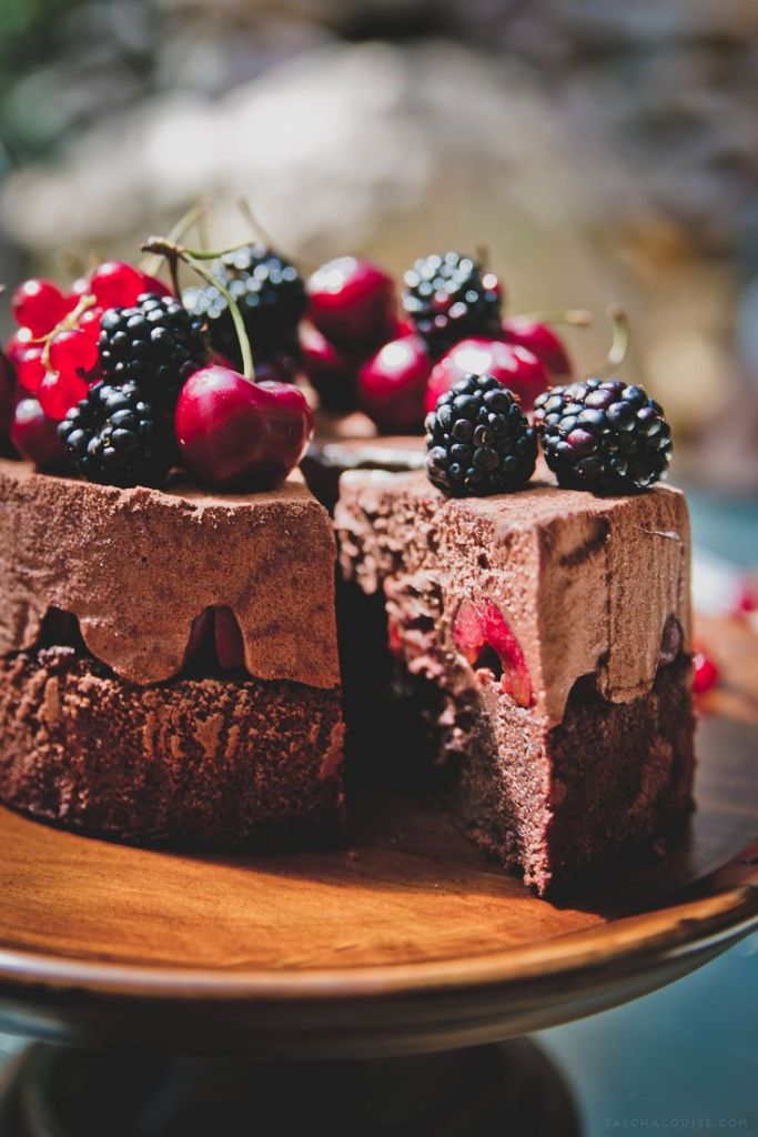 Black Forest Mousse Cake | Faith, Hope, Love, and Luck Survive Despite a Whiskered Accomplice