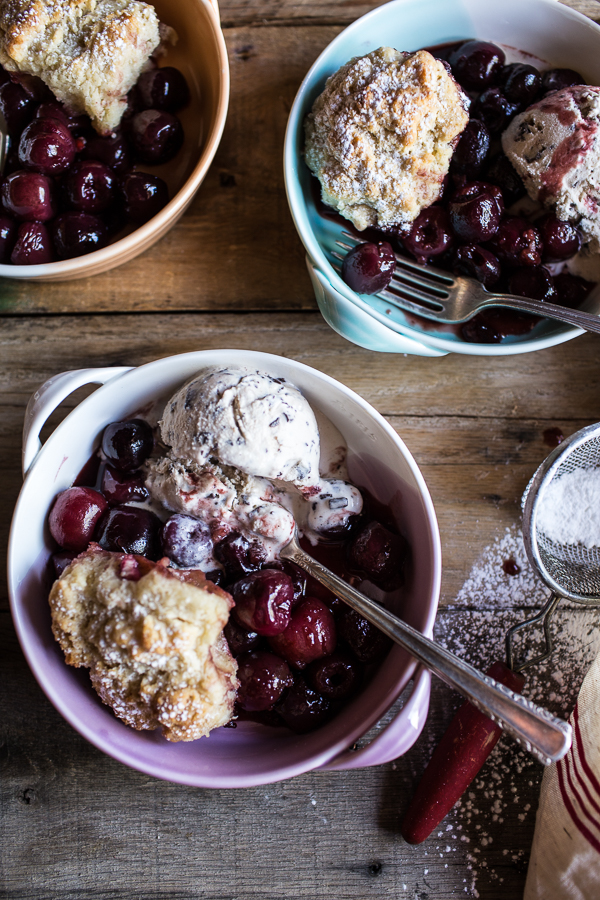 Cherry Cobbler with Honey Butter Vanilla Bean Biscuits | Faith, Hope, Love, and Luck Survive Despite a Whiskered Accomplice