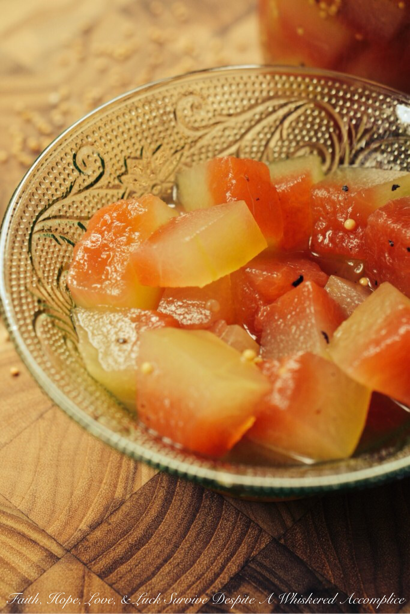Sweet And Tangy Watermelon Rind Pickles