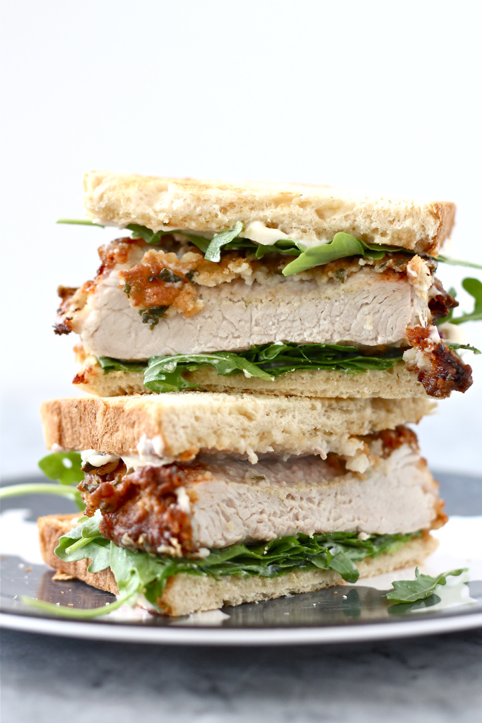 Buttermilk Sage Fried Pork Chop Sandwiches | Faith, Hope, Love, and Luck Survive Despite a Whiskered Accomplice