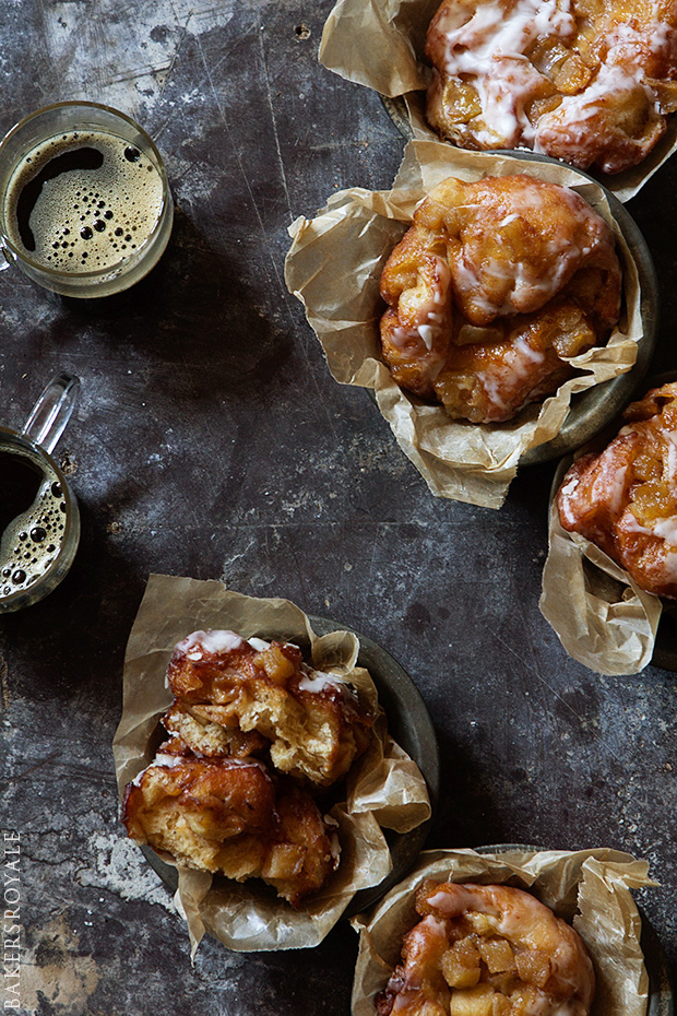 Homemade Apple Fritters | Faith, Hope, Love, and Luck Survive Despite a Whiskered Accomplice