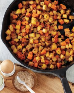 Apple-and-Root-Vegetable Hash | Faith, Hope, Love, and Luck Survive Despite a Whiskered Accomplice