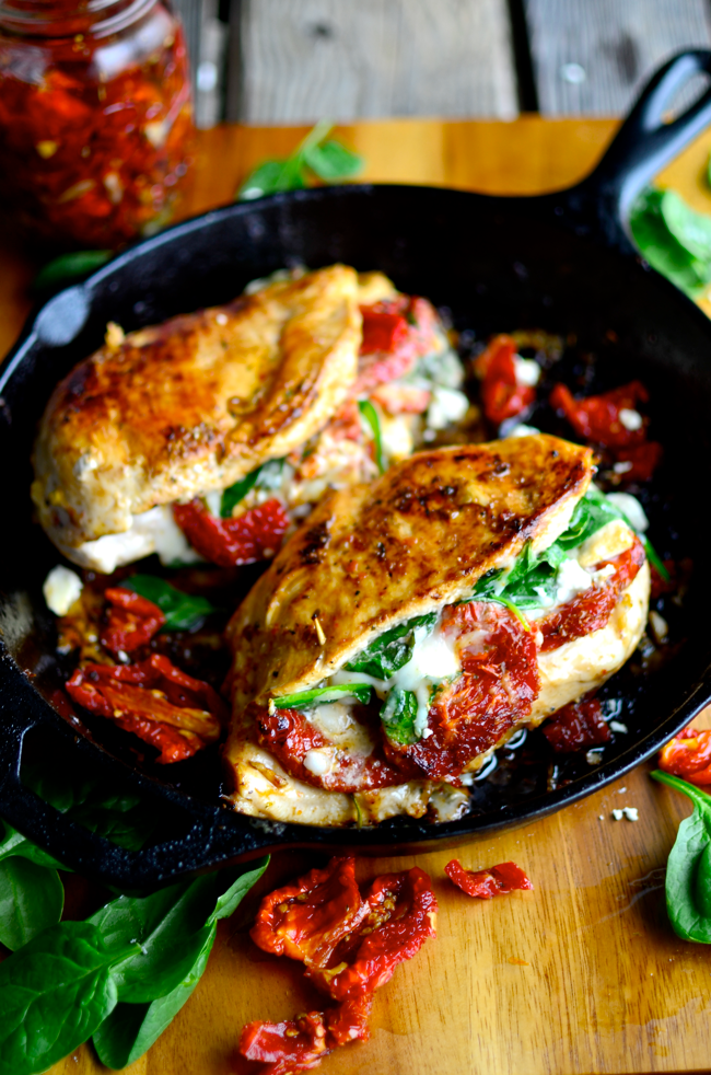 Sundried Tomato Spinach and Cheese Stuffed Chicken | Faith, Hope, Love, and Luck Survive Despite a Whiskered Accomplice