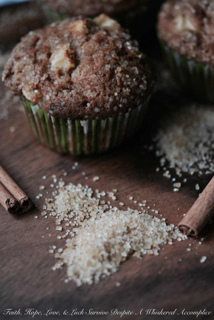 Apple Brandy Muffins | Faith, Hope, Love, and Luck Survive Despite a Whiskered Accomplice