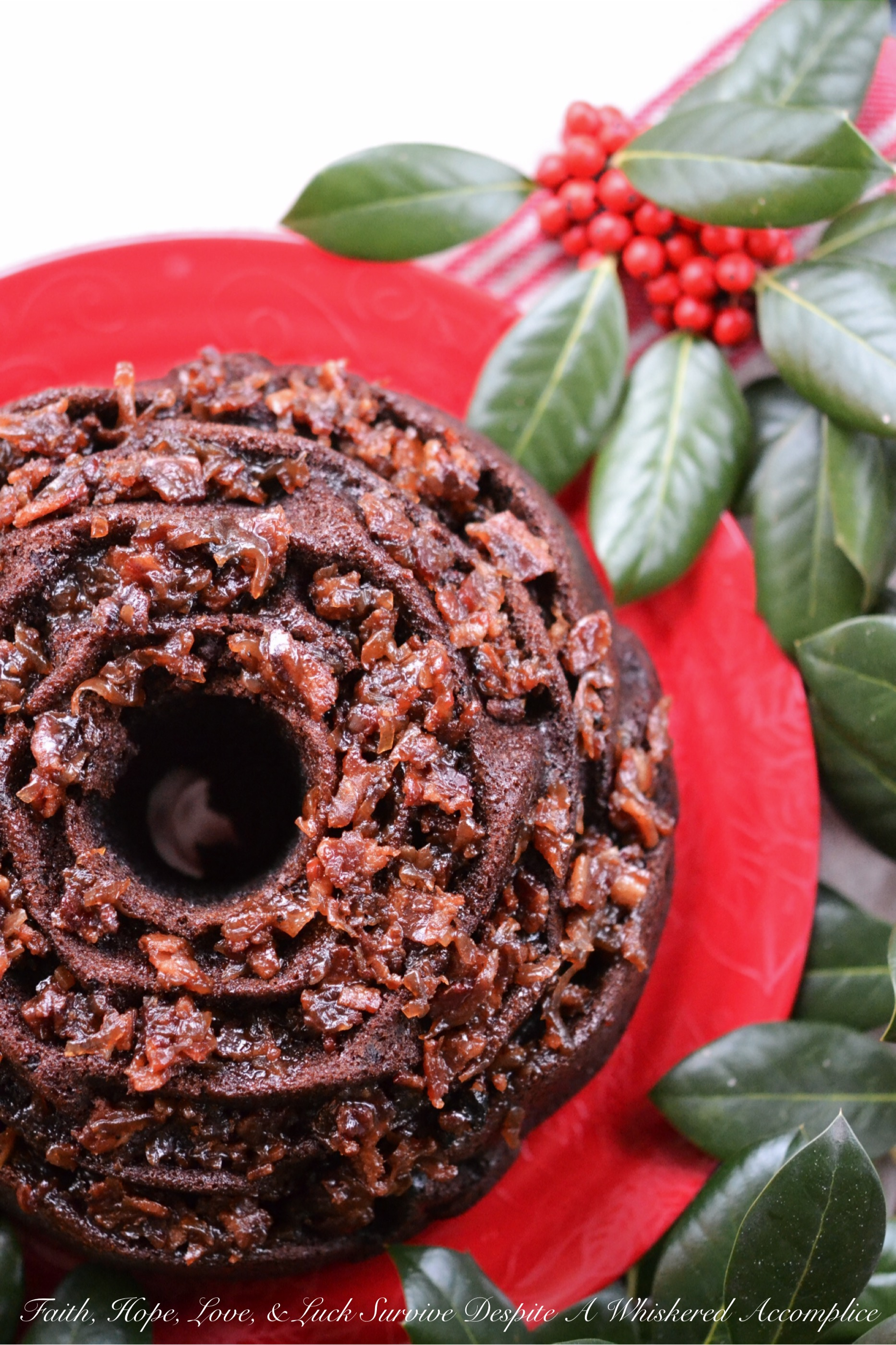 Super Naughty Chocolate Whiskey Bacon Jam Bundt Cake – #BundtBakers