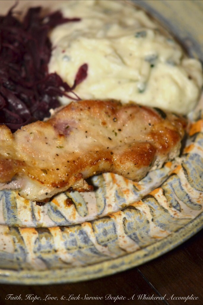 Dip Mix Fried Pork Chops | Faith, Hope, Love, and Luck Survive Despite a Whiskered Accomplice