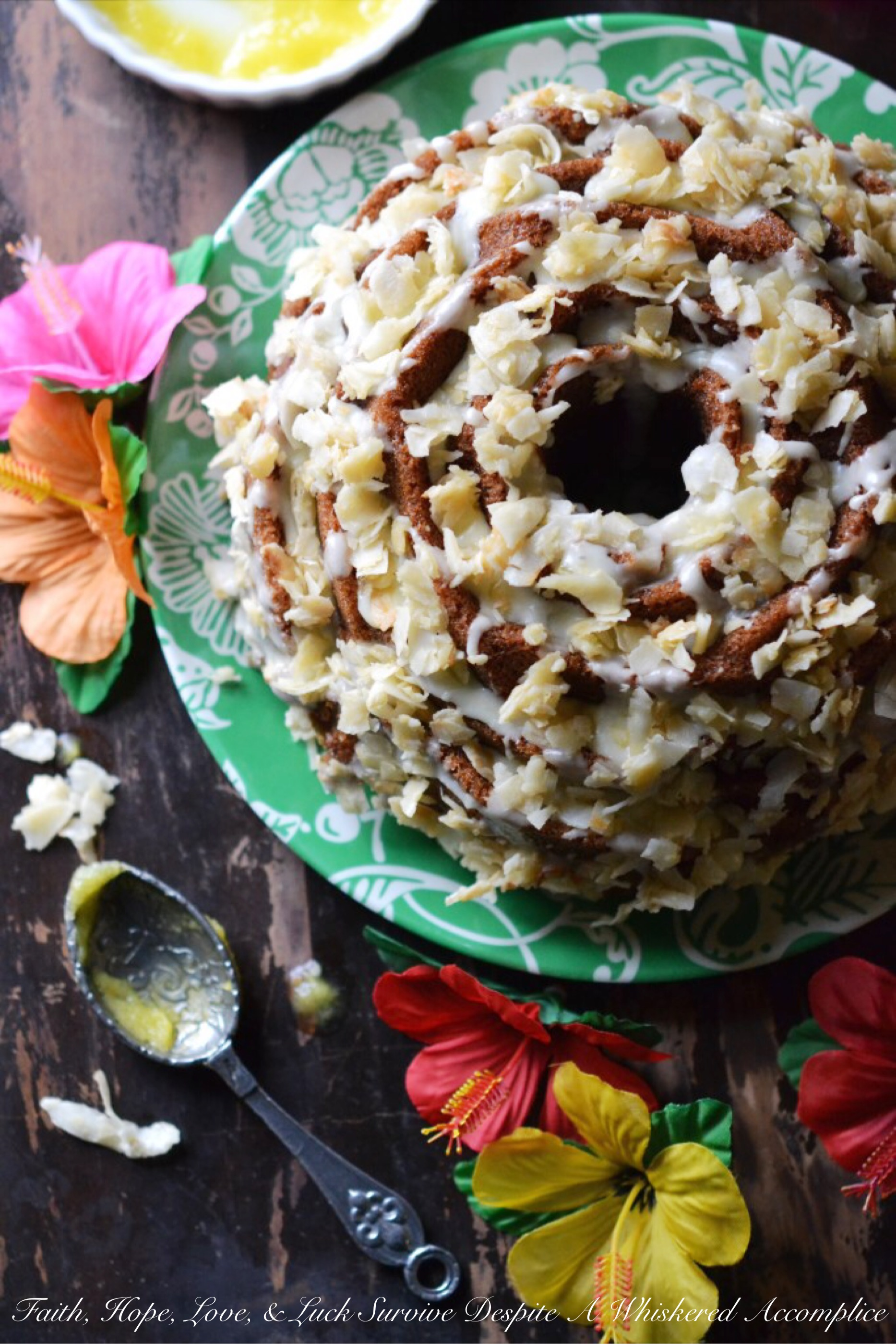 Golden Tropical Coconut Bundt Cake