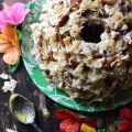 Golden Tropical Coconut Bundt Cake | Faith, Hope, Love, and Luck Survive Despite a Whiskered Accomplice
