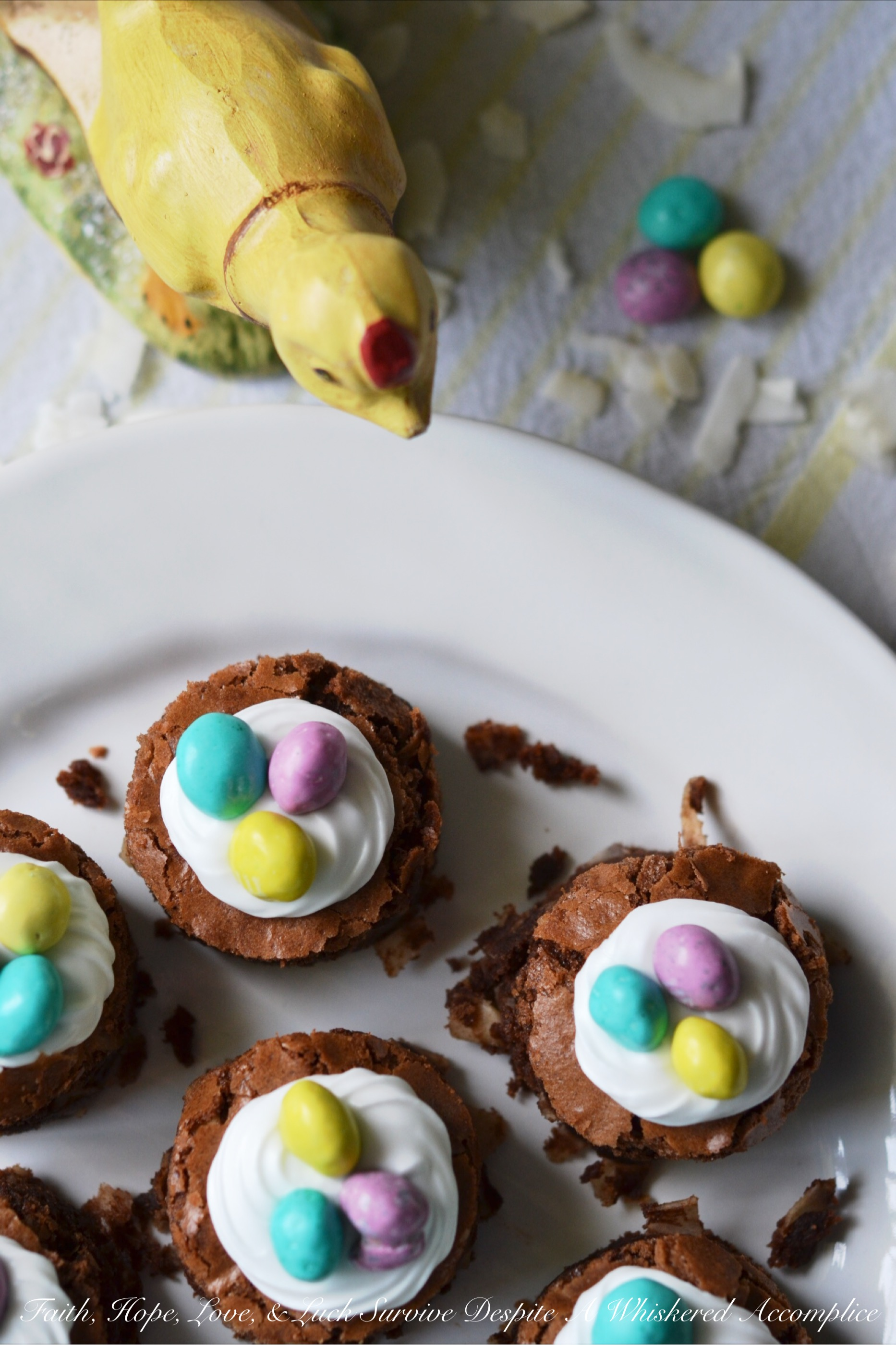 Coconut Brownie Nests