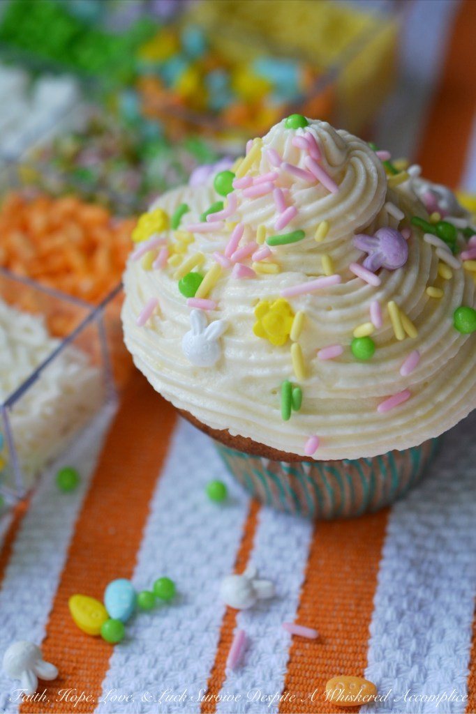 DYO Vanilla Irish Brown Butter Cupcakes | Faith, Hope, Love, and Luck Survive Despite a Whiskered Accomplice