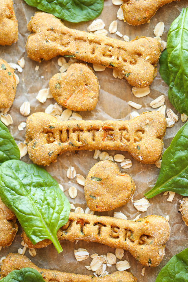 Spinach, Carrot and Zucchini Dog Treats | Faith, Hope, Love, and Luck Survive Despite a Whiskered Accomplice
