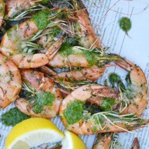 Instagram - Grilled Chimichurri Whole Shrimp | Faith, Hope, Love, and Luck Survive Despite a Whiskered Accomplice