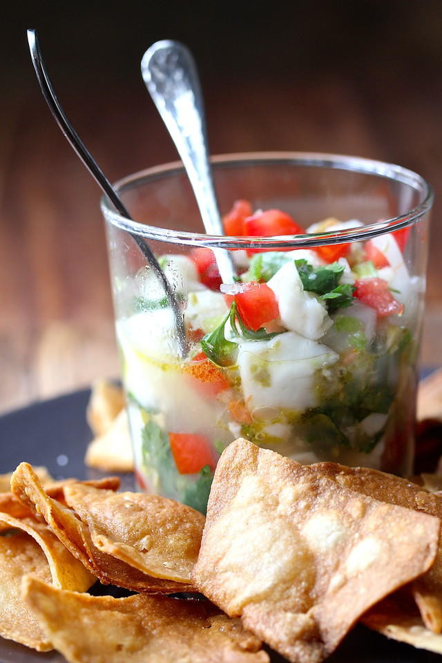 Spicy Halibut Ceviche   Faith, Hope, Love, & Luck Survive Despite a Whiskered Accomplice