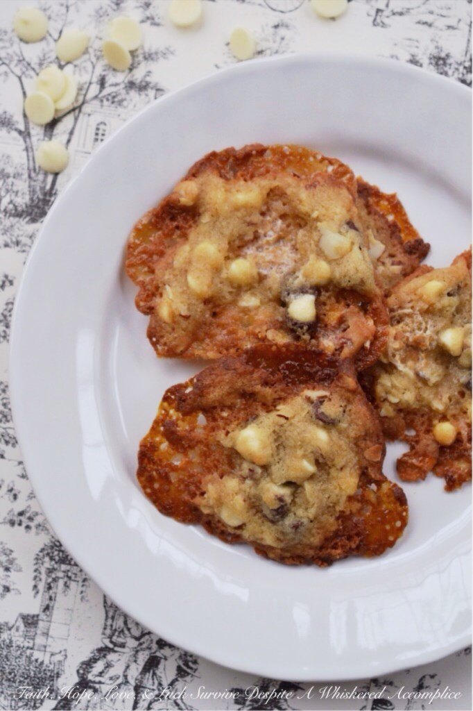 Rocky Road Lace Cookies   Faith, Hope, Love, and Luck Survive Despite a Whiskered Accomplice
