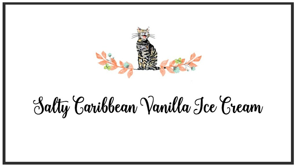 Salty Caribbean Vanilla Ice Cream Label | Faith, Hope, Love, and Luck Survive Despite a Whiskered Accomplice