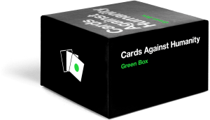 Cards Against Humanity Green Box | Faith, Hope, Love, and Luck Survive Despite a Whiskered Accomplice