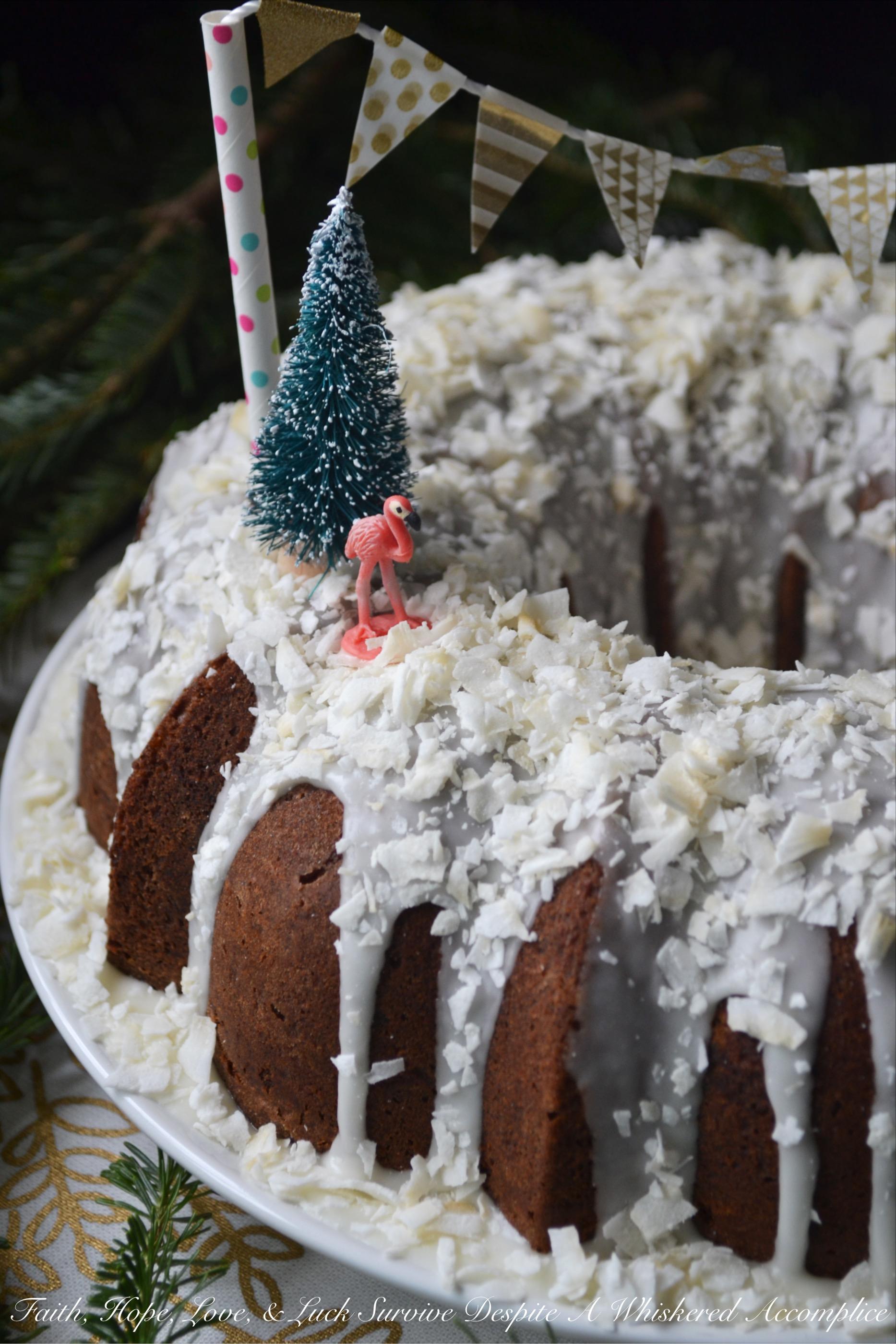 Tropical Winter Wonderland Bundt Cake – #BundtBakers