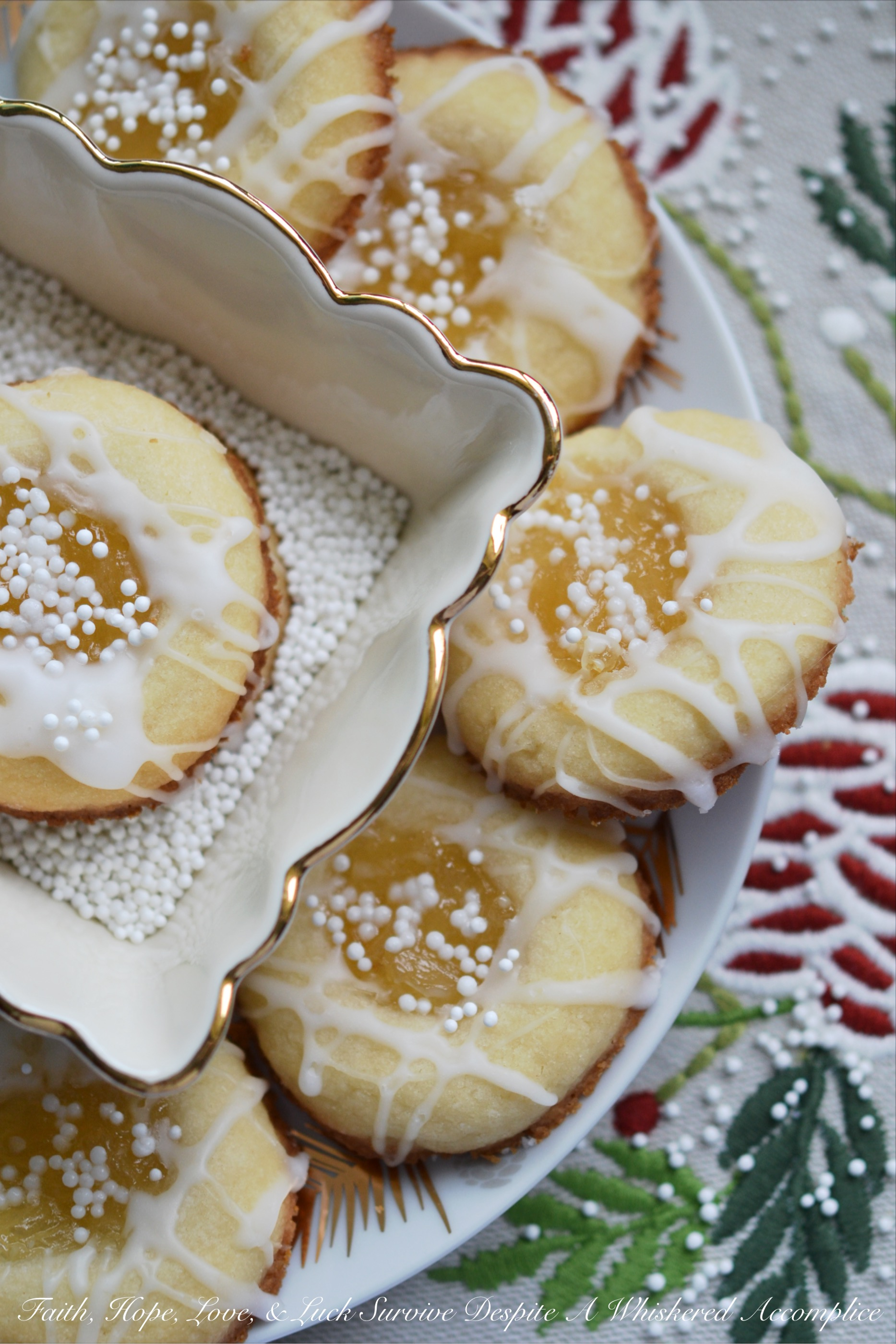 Malibu Winter Thumbprint Cookies