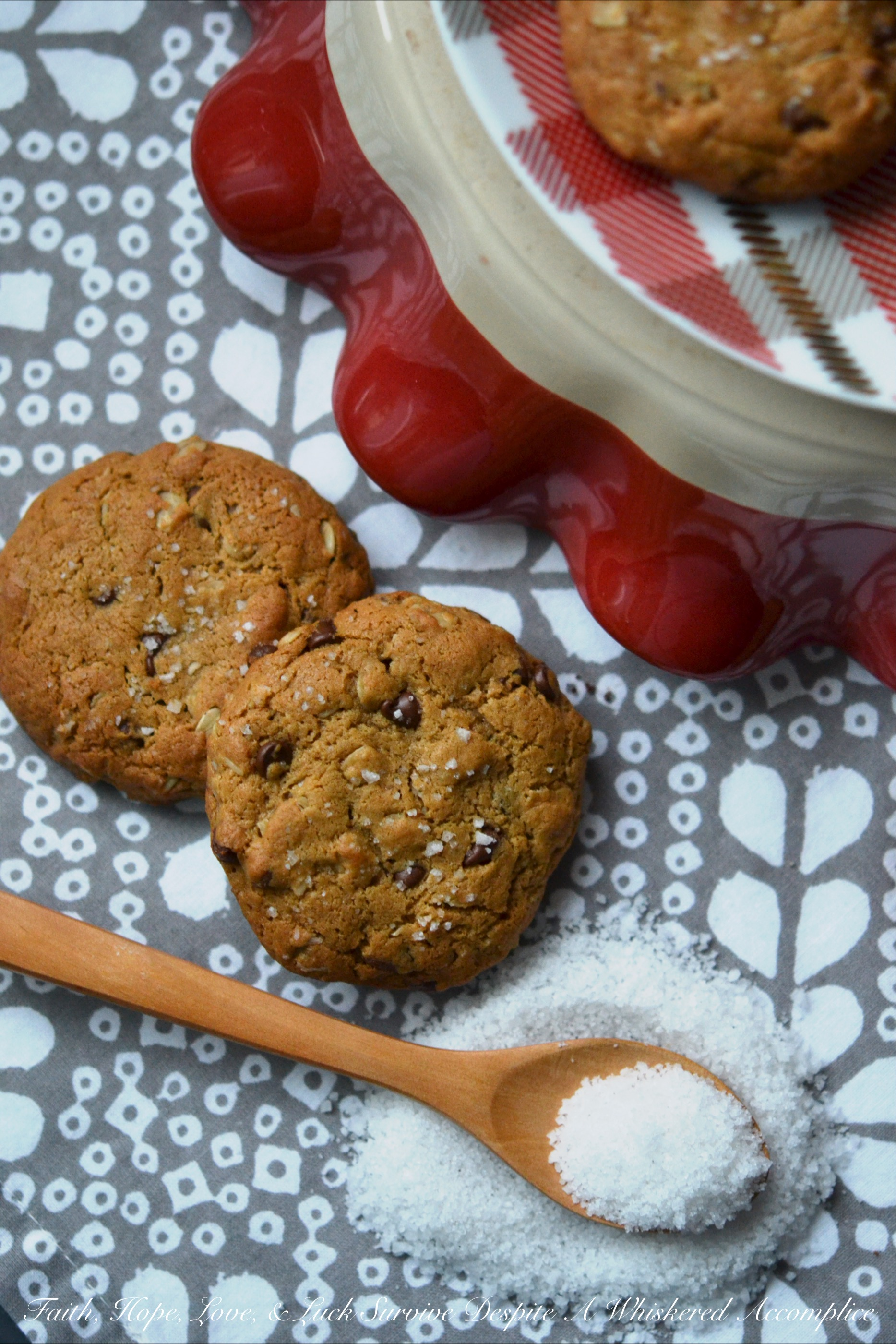 """Healthier"" Peanut Butter Oatmeal Cookies"