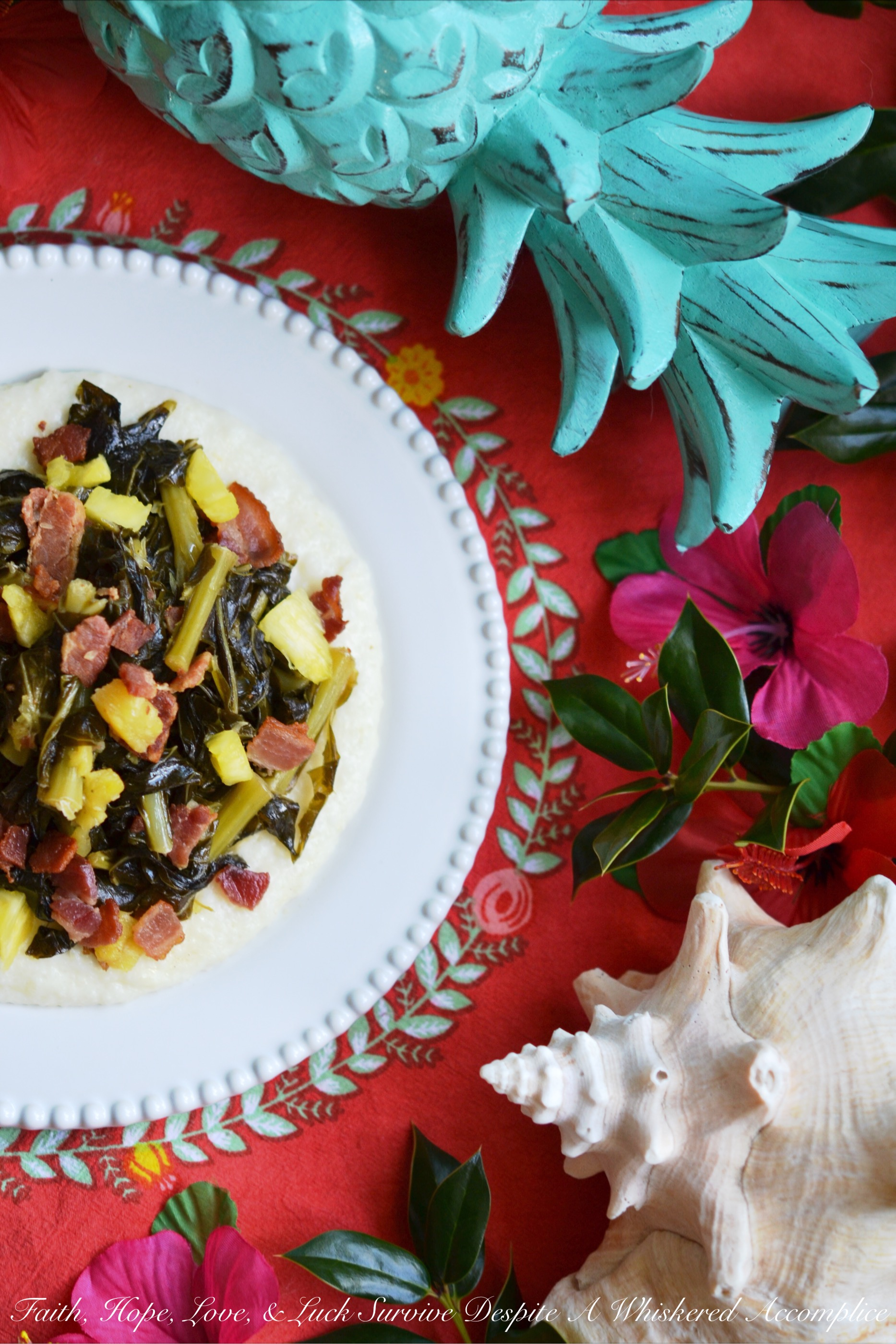 Pineapple and Bacon Collard Greens