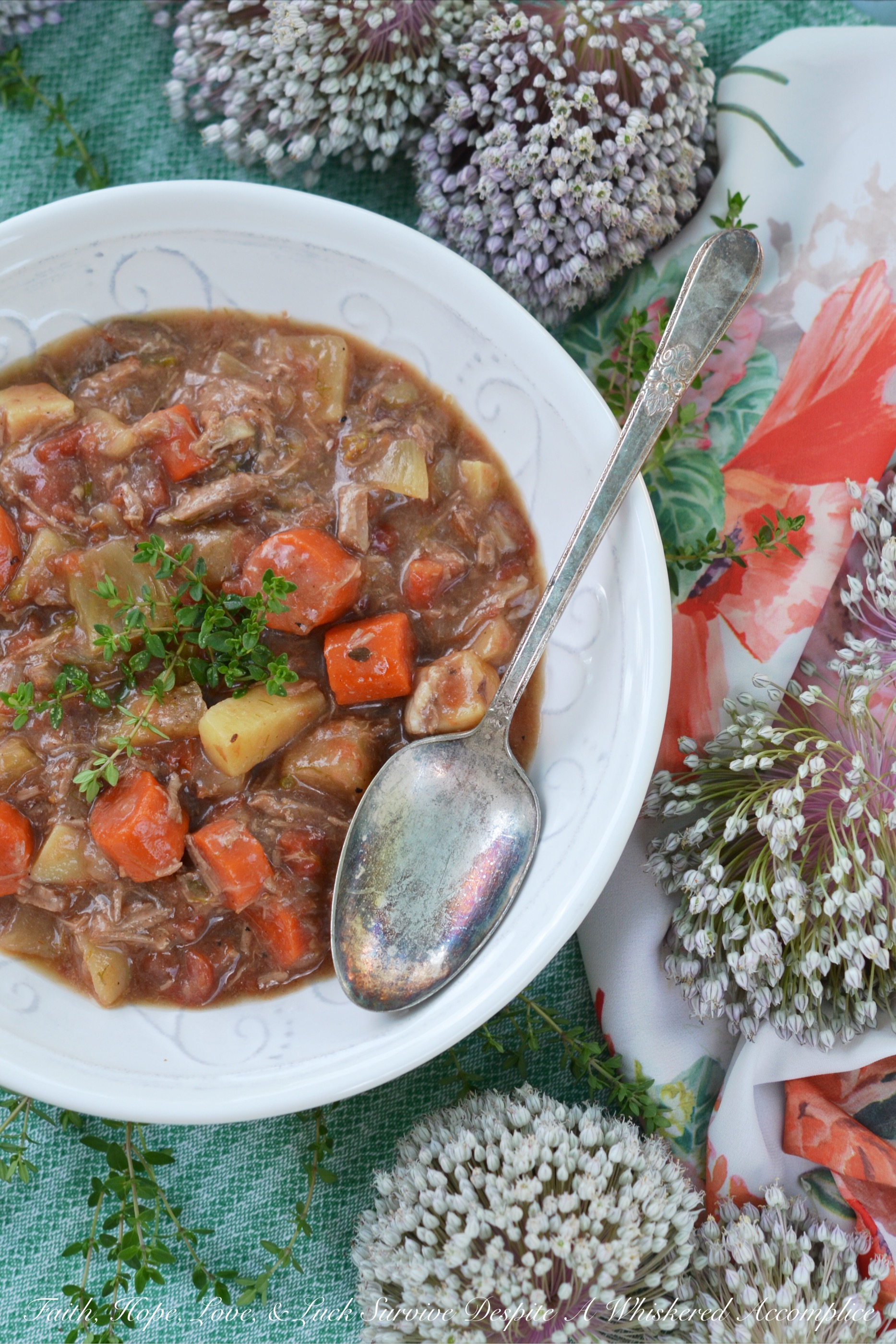 Lamb & Root Vegetable English Stew – #SoupSwappers