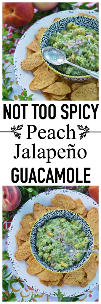 Finally, a guacamole that isn't too spicy. This sweet peach and jalapeño guacamole is packed with flavor, instead of fire. Grab some chips and dig on in!