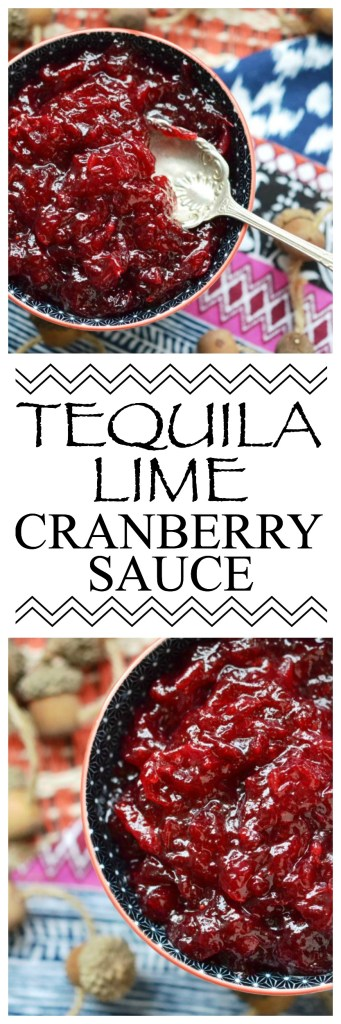Average Thanksgiving cranberry sauce is transformed into something truly special with the addition of tequila, lime, and salt.
