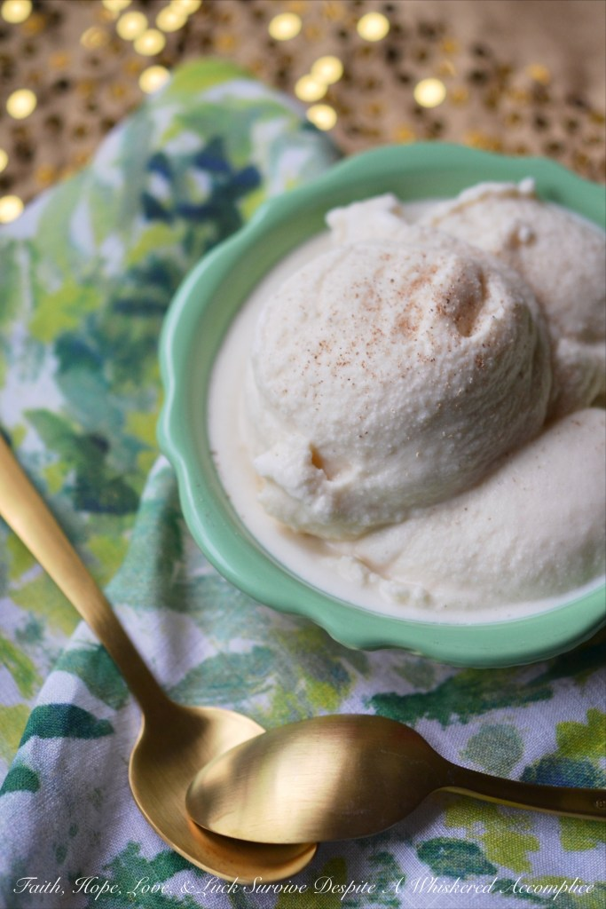 This no-churn version of soft-serve ice cream is infused with eggnog, cream, and a touch of rum. It's a decadent addition to any holiday celebration.