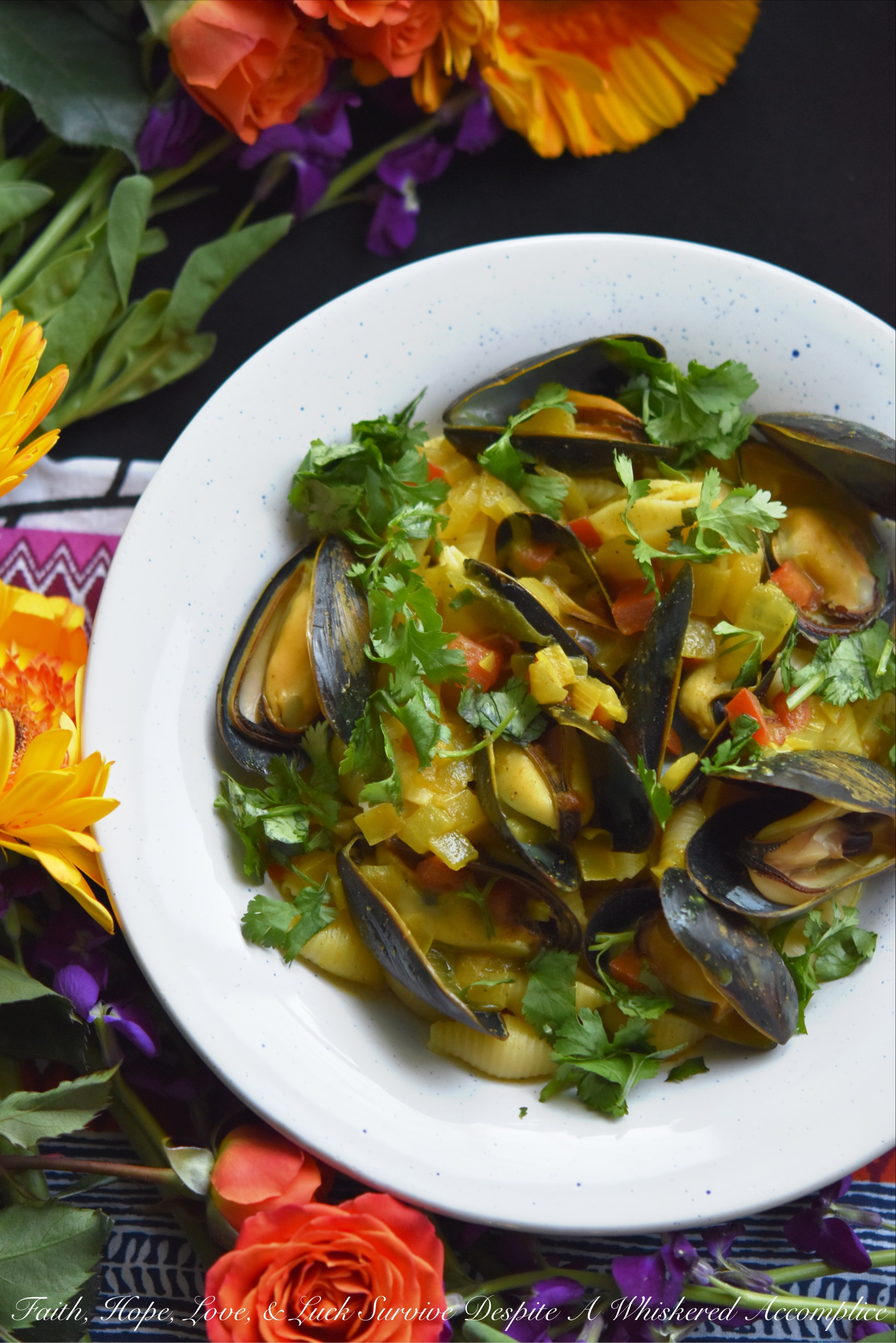 Coconut Curried Mussels