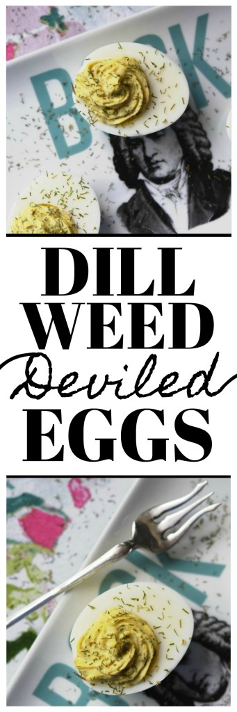 """Dill Weed Deviled Eggs - Make ordinary deviled eggs """"egg""""traordinary with the addition of dill weed, pickle juice, mayonnaise, Dijon mustard, salt, pepper, and just a touch of sugar."""