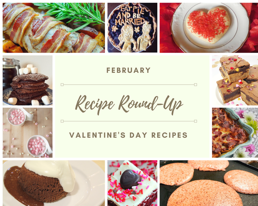 Celebrate the month of February with this Valentine's Day themed Recipe Round-Up. There's sure to be something your sweetheart will love.