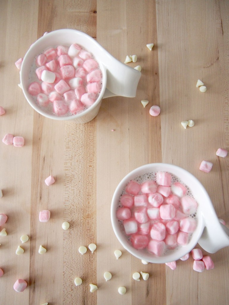 White Hot Chocolate - Celebrate the month of February with this Valentine's Day themed Recipe Round-Up. There's sure to be something your sweetheart will love.