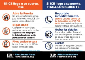 What to Do if ICE Comes to Your Door - Spanish - Wallet Card