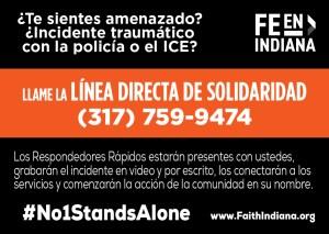 Solidarity Hotline Card - Spanish - Wallet Card