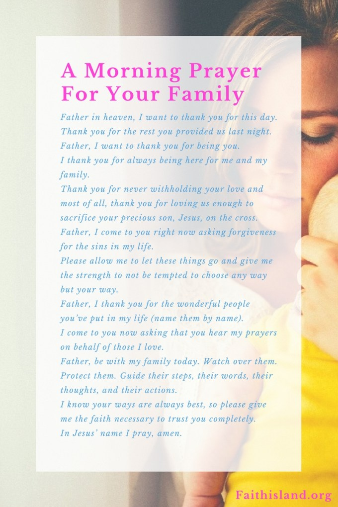 Morning Prayer for Family