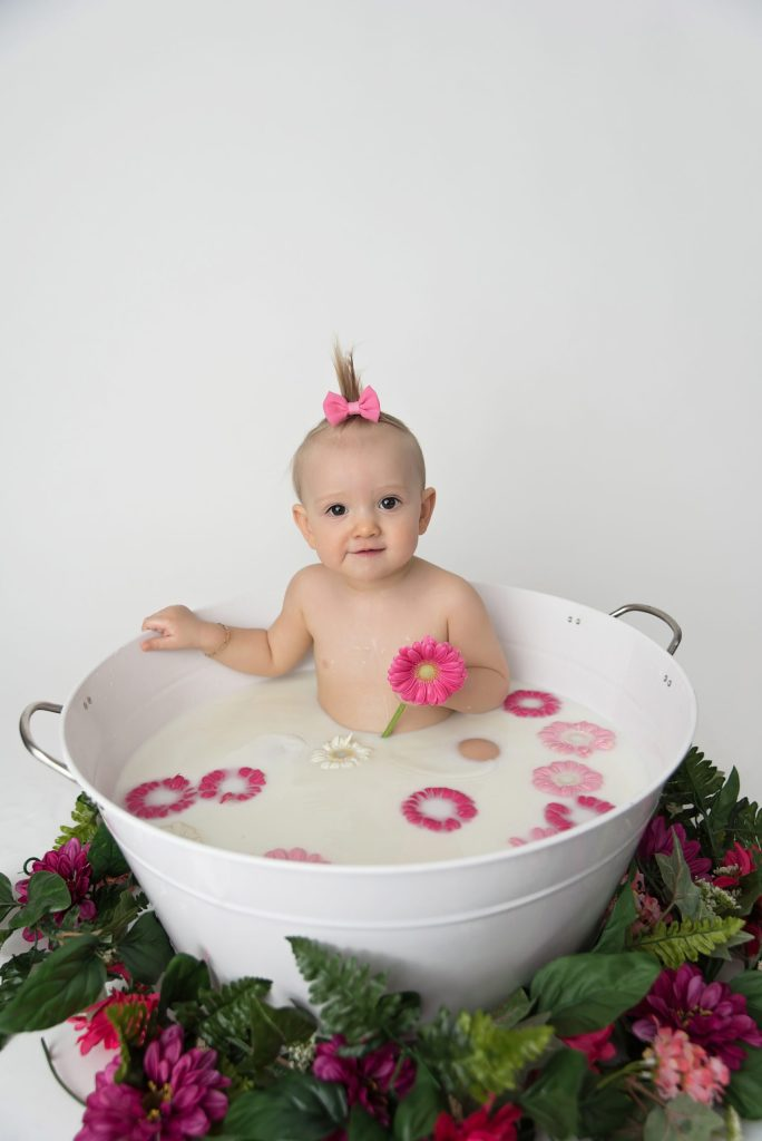 Mentor Ohio milk bath baby