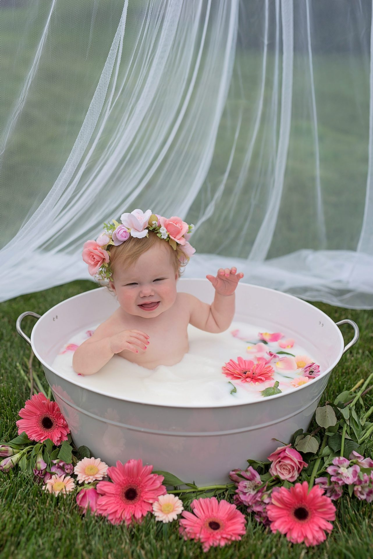 Mentor Ohio baby milk bath